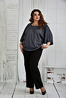 Женская блуза узор снежинка  0410 размер 42-74