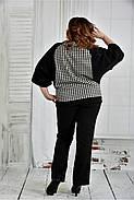 Женская блуза узор гусиная лапка 0410 размер 42-74, фото 4