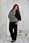 Женская блуза узор гусиная лапка 0410 размер 42-74, фото 2
