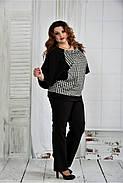 Женская блуза узор гусиная лапка 0410 размер 42-74, фото 3