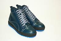 Теплые мужские ботинки на шнуровке, фото 1