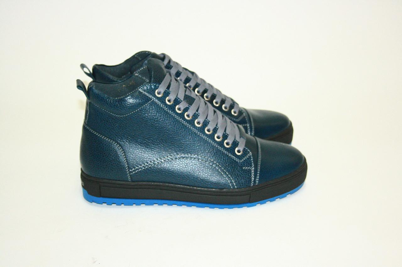 Ботинки  Oscar Fur 16160cин.х. Синий