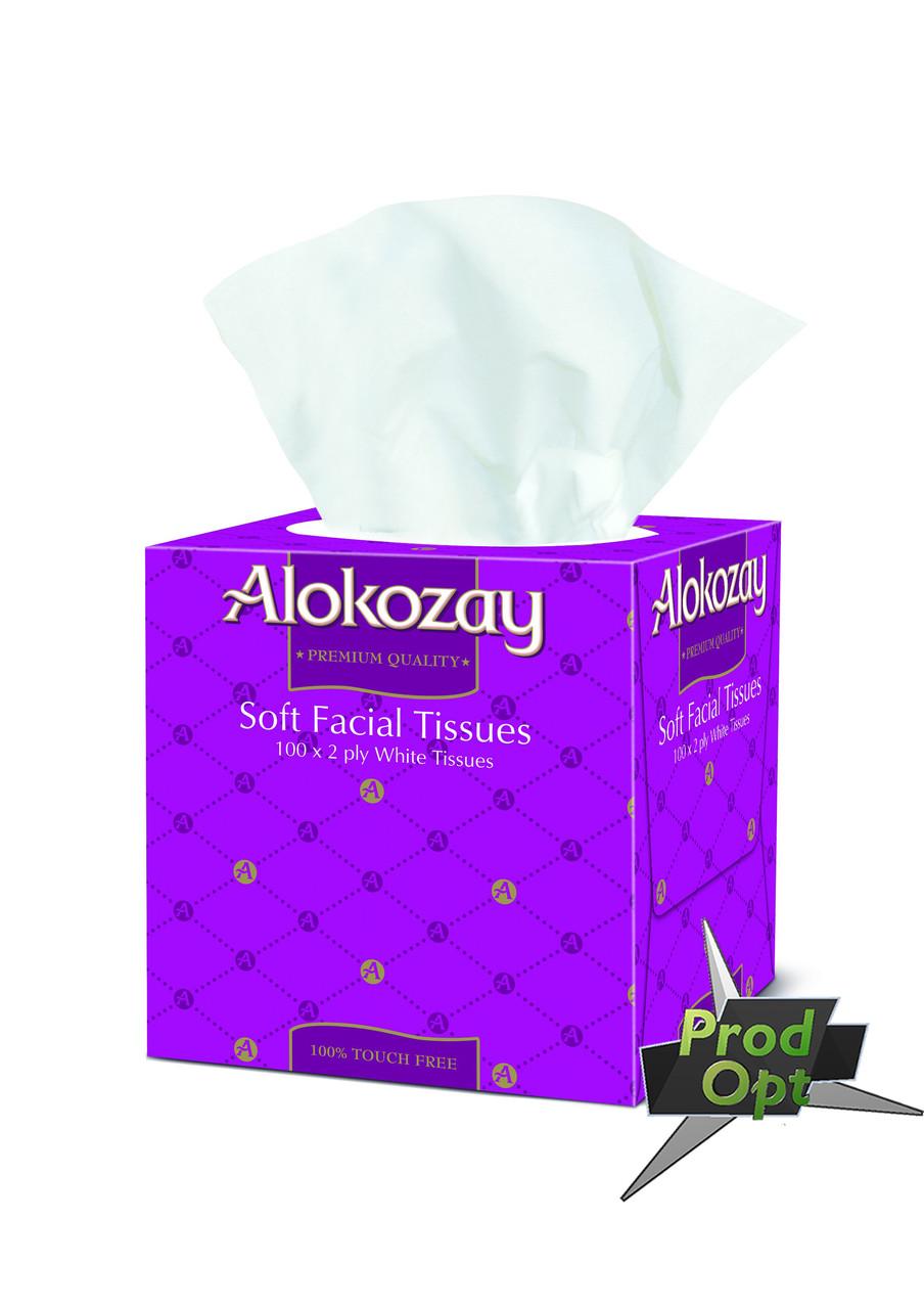 "Серветка паперова ""Alokozay"" двошарова 100 шт. квадратна коробка"