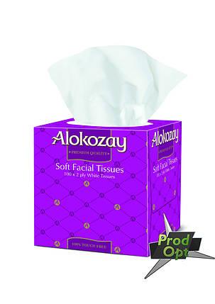 "Серветка паперова ""Alokozay"" двошарова 100 шт. квадратна коробка, фото 2"