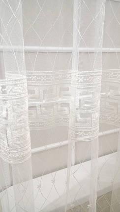 """Готовая тюль-вышивка """"Амфора"""" V1 (Белый), фото 2"""