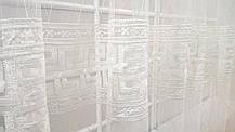 """Готовая тюль-вышивка """"Амфора"""" V1 (Белый), фото 3"""