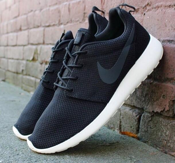 dff68c95a571 ... Nike Roshe Run Black White   кроссовки женские и мужские летние  беговые, фото 4