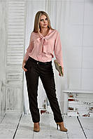 Женская стильная блуза 0409 цвет розовый размер 42-74