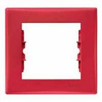 Рамка 1-местная Цвет: красный