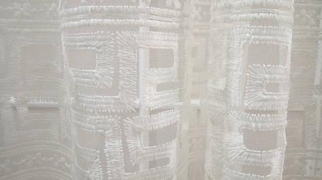 """Готовая тюль-вышивка """"Амфора"""" V3 (Крем), фото 2"""