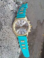 Женские часы Rolex с силиконовым ремешком
