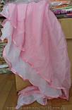 Шифоновый ламбрекен на карниз 1.5 м - 2 м Розового цвета, фото 2