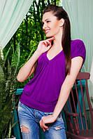 Кофта Мирабелла фиолетовый 42-50 размеры