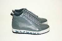 Зимние мужские ботинки темно-серые/ man shoes 16160 сер.х., фото 1