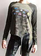 Женская молодежная кофточка, цвет хаки
