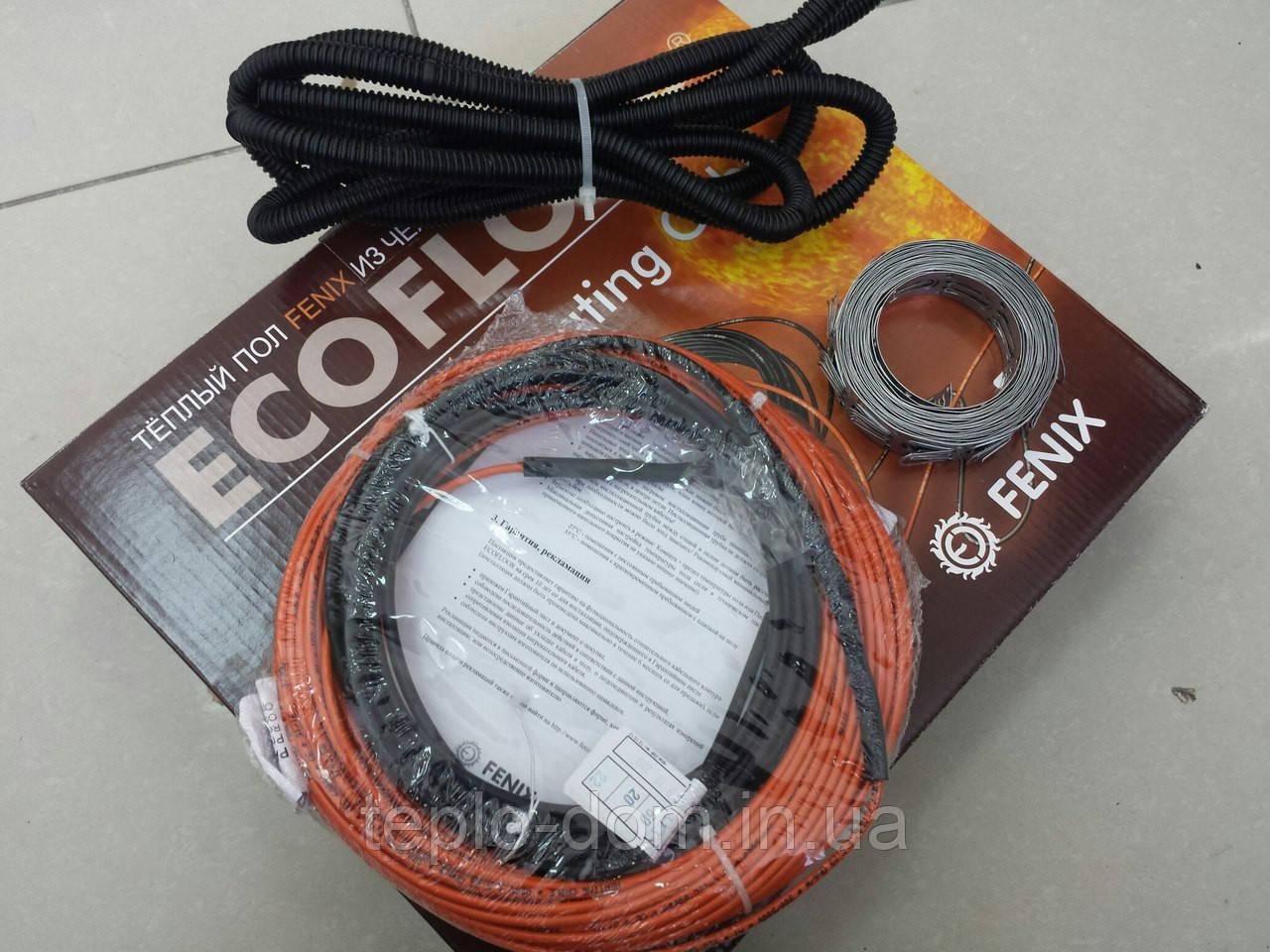 Нагревательный  тонкий кабель под плитку FENIX ( в комплекте с крепежом  и гофрой ) 2.1 м.кв