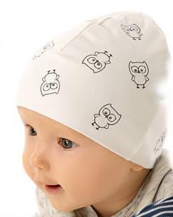 Белая шапочка с подкладкой для девочки лапули от Marika Польша, фото 2