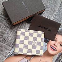 Мужской портмоне Louis Vuitton кожаный портмоне луи витон брендовый кошелек для мужчин мужской кошелек
