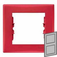 Рамка 2-местная вертикальна Цвет: красный