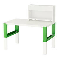 PÅHL Стол с дополнительным модулем, белый, зеленый