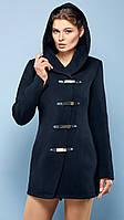 """Пальто демисезонное женское """"Кобра"""" черный, 42"""