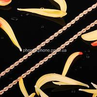 Стильная цепочка, покрытая золотом (41155)