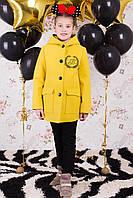 Демисезонное пальто для девочек весна-осень, кашемир,  размеры 122,128,134,140 см