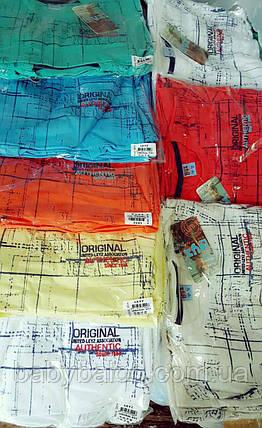 Хлопковая подростковая футболка на манжете(от 5 до 8 лет)  , фото 2