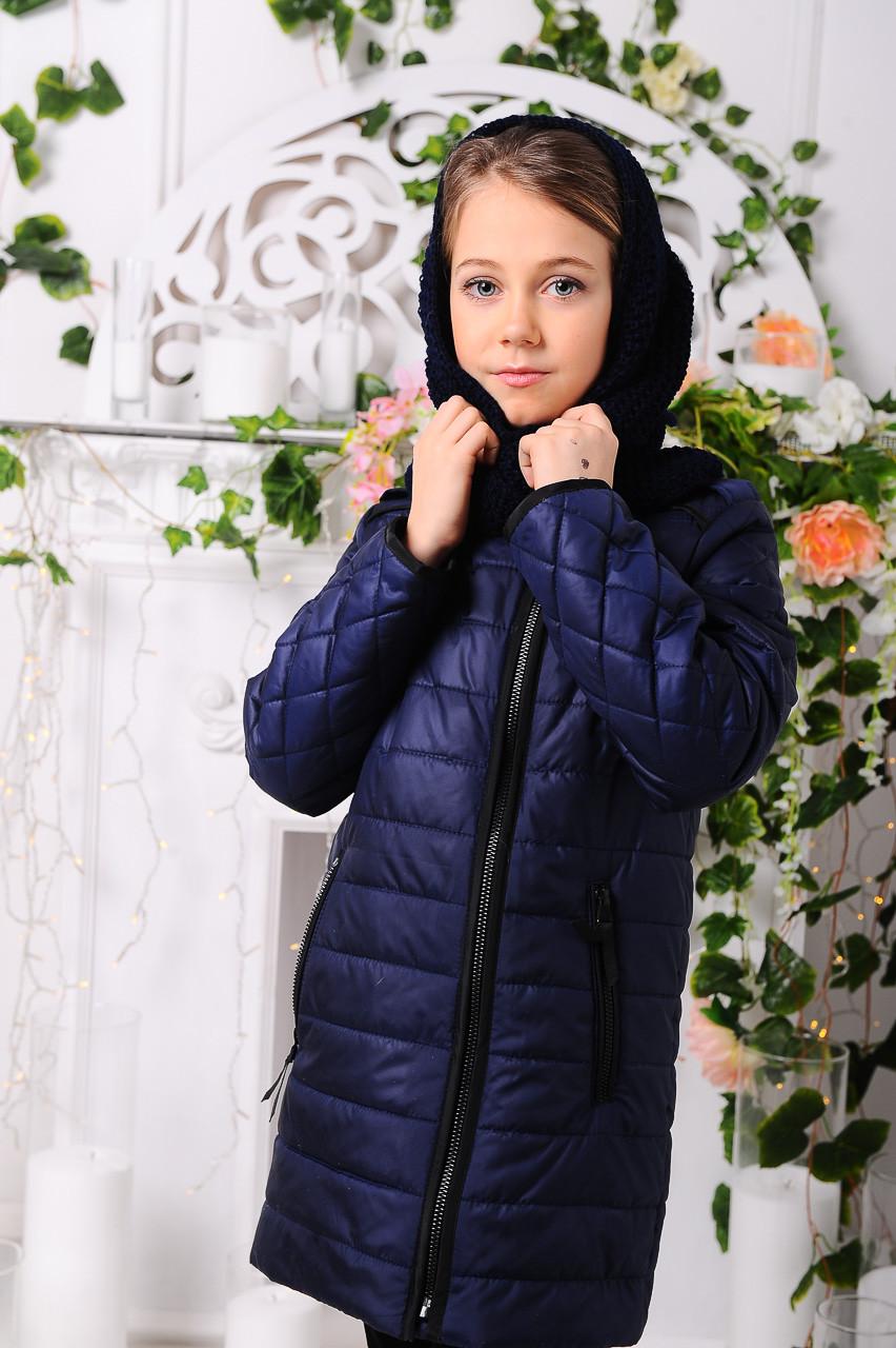 """Демісезонна куртка для дівчинки """"Маргарита"""" джинс (розмір 34)"""