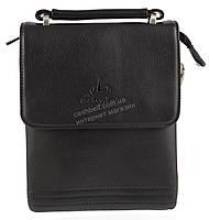 Удобная компактная черная прочная мужская сумка с качественной PU кожи LANGSA art. TP9871-1 черная, фото 1