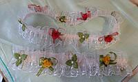 Пасхальные украшения праздничные резинки на корзину разные цвета, фото 1