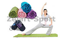 Коврик-полотенце для йоги Zelart Towel (FL-4938)