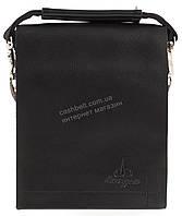 Удобная компактная черная прочная мужская сумка с качественной PU кожи LANGSA art. TP9887-1 черная, фото 1