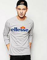 Стильная футболка с принтом серая ellesse