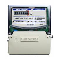 Счетчик электроэнергии трехфазный ЦЭ6804-U/1 220В 5-60А 3ф. 4пр. МР32