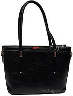 Черная сумка с серой отделкой