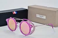 Солнцезащитные очки круглые Tom Browne розовые