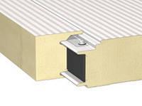 Сэндвич-панель стеновая со скрытым креплением с наполнителем из полиуретана
