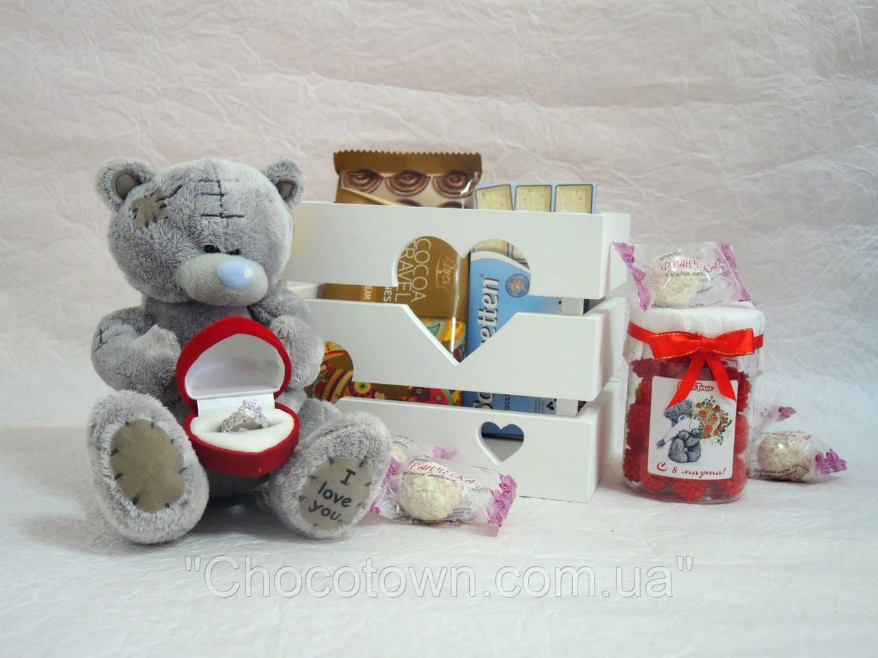 """Подарочный набор """"Мишка с кольцом"""" Арт.130 - Интернет-магазин """"Chocotown"""" в Днепре"""