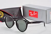 Солнцезащитные очки круглые Rb Round черные