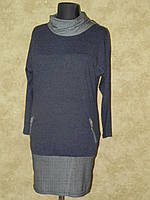Платье-туника трикотажное с карманом