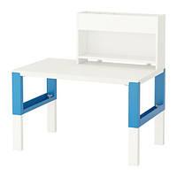 PÅHL Стол с дополнительным модулем, белый, голубой