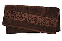 Полотенце махровое Hanibaba бамбук темно-коричневое 70х140 см