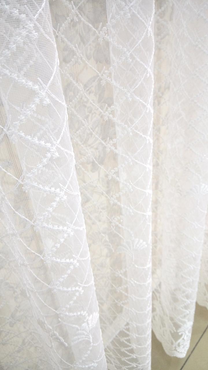 """Готовая тюль-вышивка """"Вера"""" (Белый), 3 метра"""