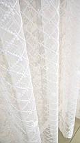 "Готовая тюль-вышивка ""Вера"" V1 (Белый), фото 3"