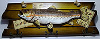 Ключница -  подарок рыбаку, на 6 крючков