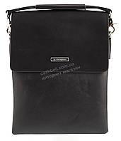 Удобная черная прочная мужская сумка с качественной PU кожи LANGSA art. TP6760-3 черная, фото 1