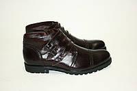 Ботинки кожаные мужские теплые, фото 1