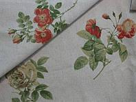 """Льняная ткань для постельного белья """"Аромат роз"""", с вложением хлопка (шир. 220 см)"""