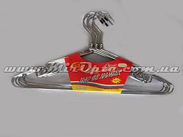 Вешалка с хромированным контуром и с поворотным крючком